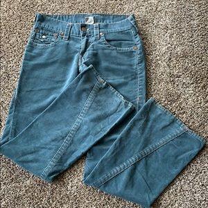 True religion corduroy bell bottom pants